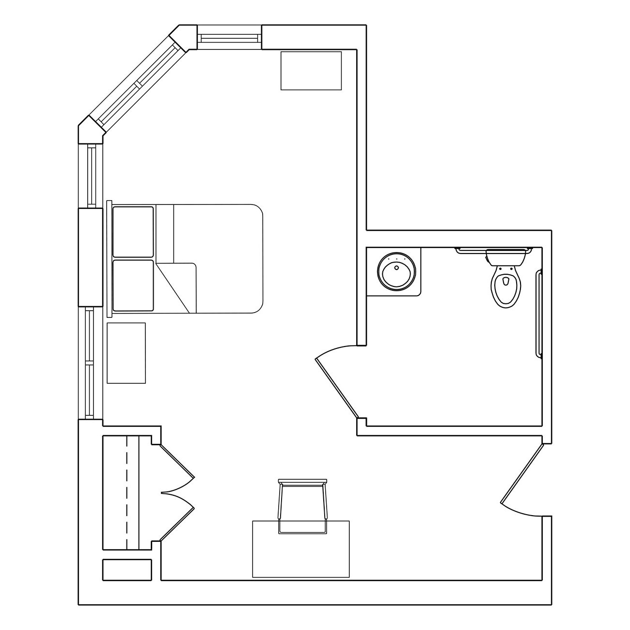 Large Model Without Shower Floor Plan